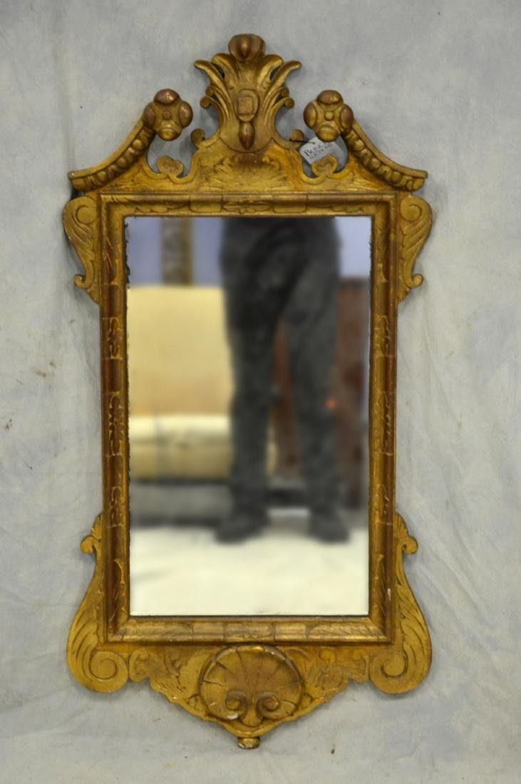 """Carved and gilt Georgian style wall mirror, 45""""h x"""