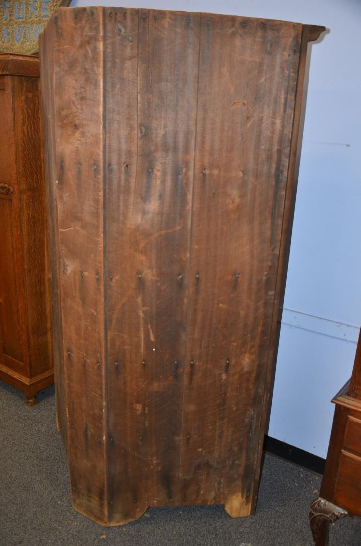 Walnut 1 pc corner cupboard, original H hinges, mid - 3
