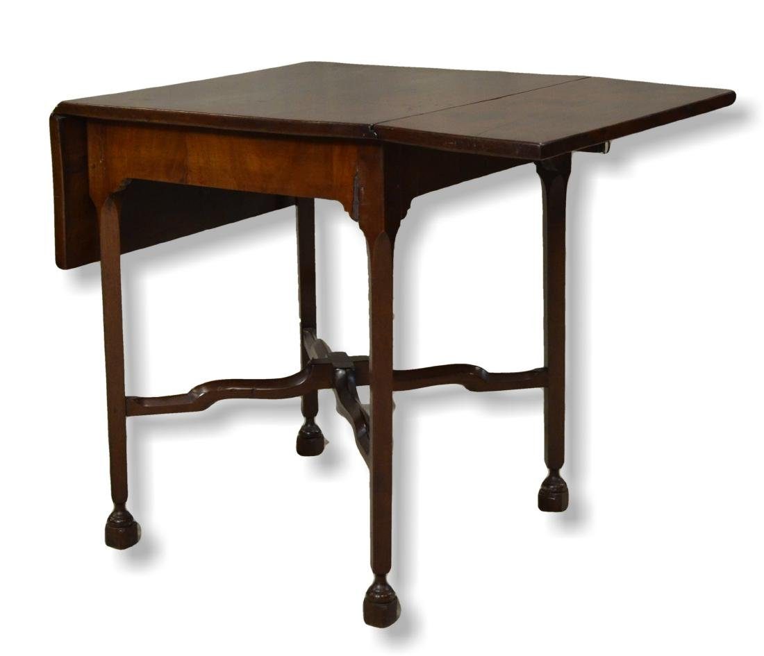 Chippendale style square dropleaf center table