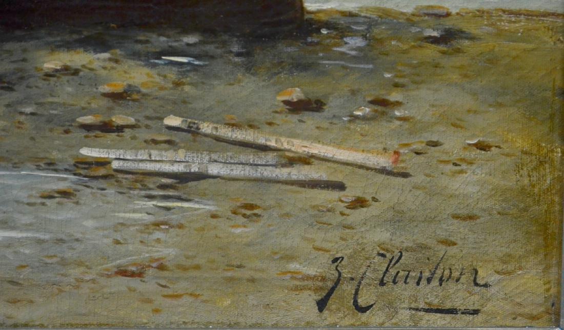"""J. Claiton, 19th C German, """"Fischerbarken an der - 3"""