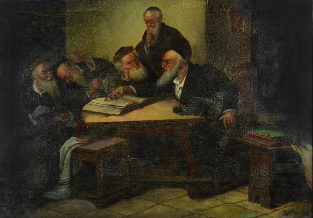 H. Kottman, Painting of 5 Rabbis
