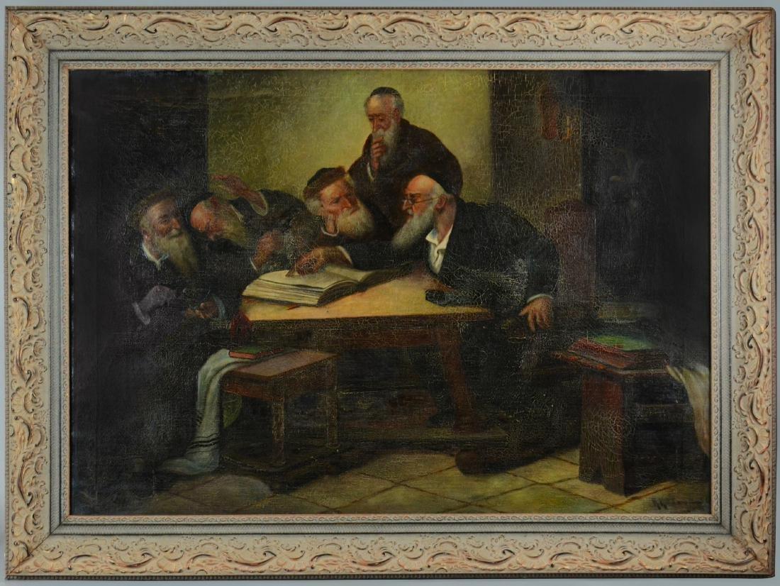 H. Kottman, Painting of 5 Rabbis - 2