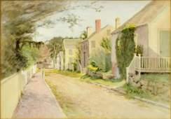 """Jane Brewster Reid Watercolor Painting """"Nantucket"""