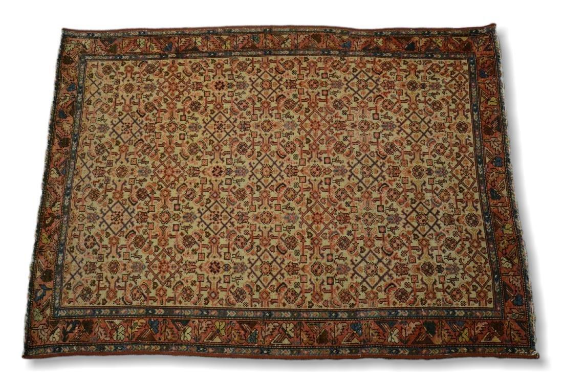"Circa 1910's Persian Malayer Rug 3'2"" x 4'4"""