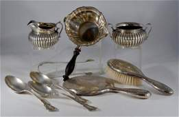 (9) Pcs Sterling Silver table ware
