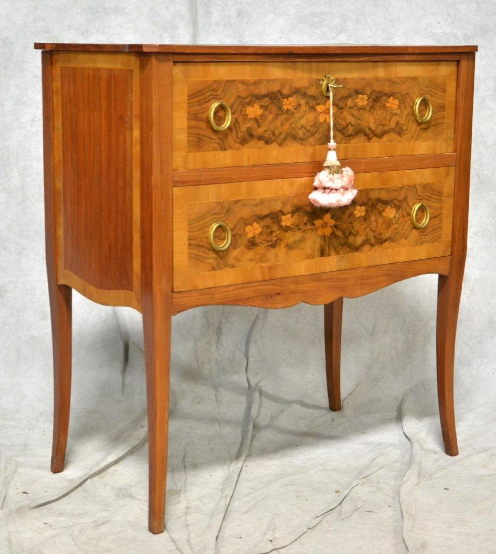 French style 2-Drawer Inlaid Commode