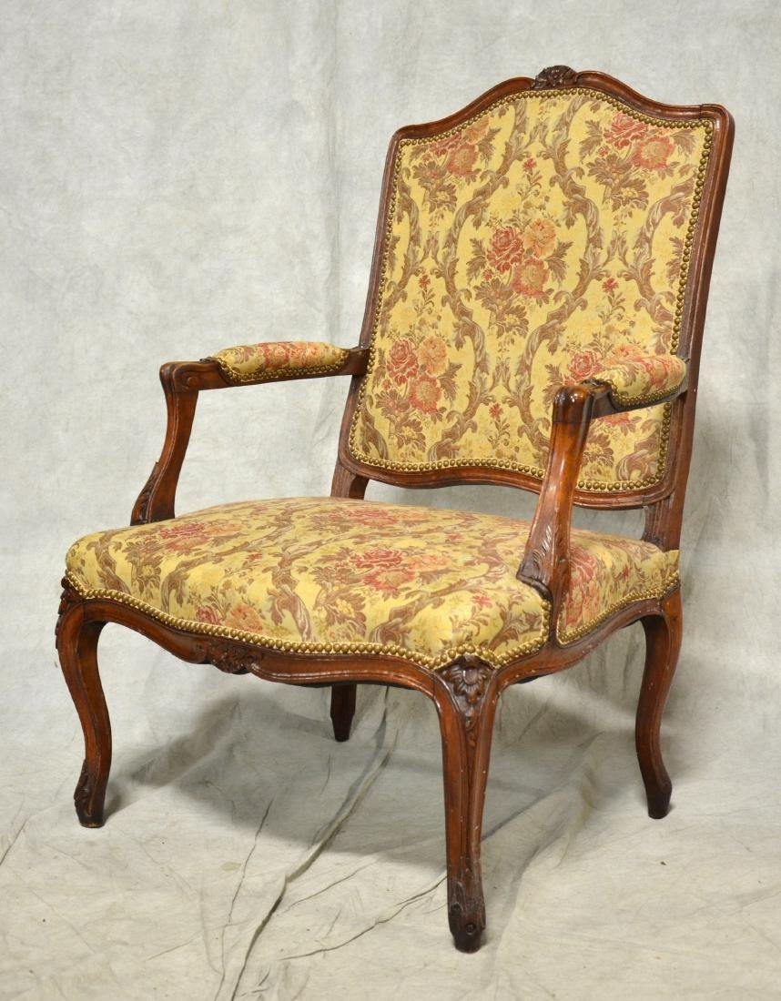 Pr Louis XV Style Oversized Carved Armchairs - 2