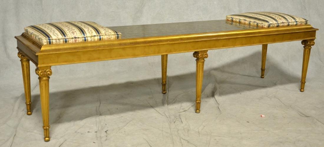 Louis XV style gilt side chair & armchair, Louis XVI - 2