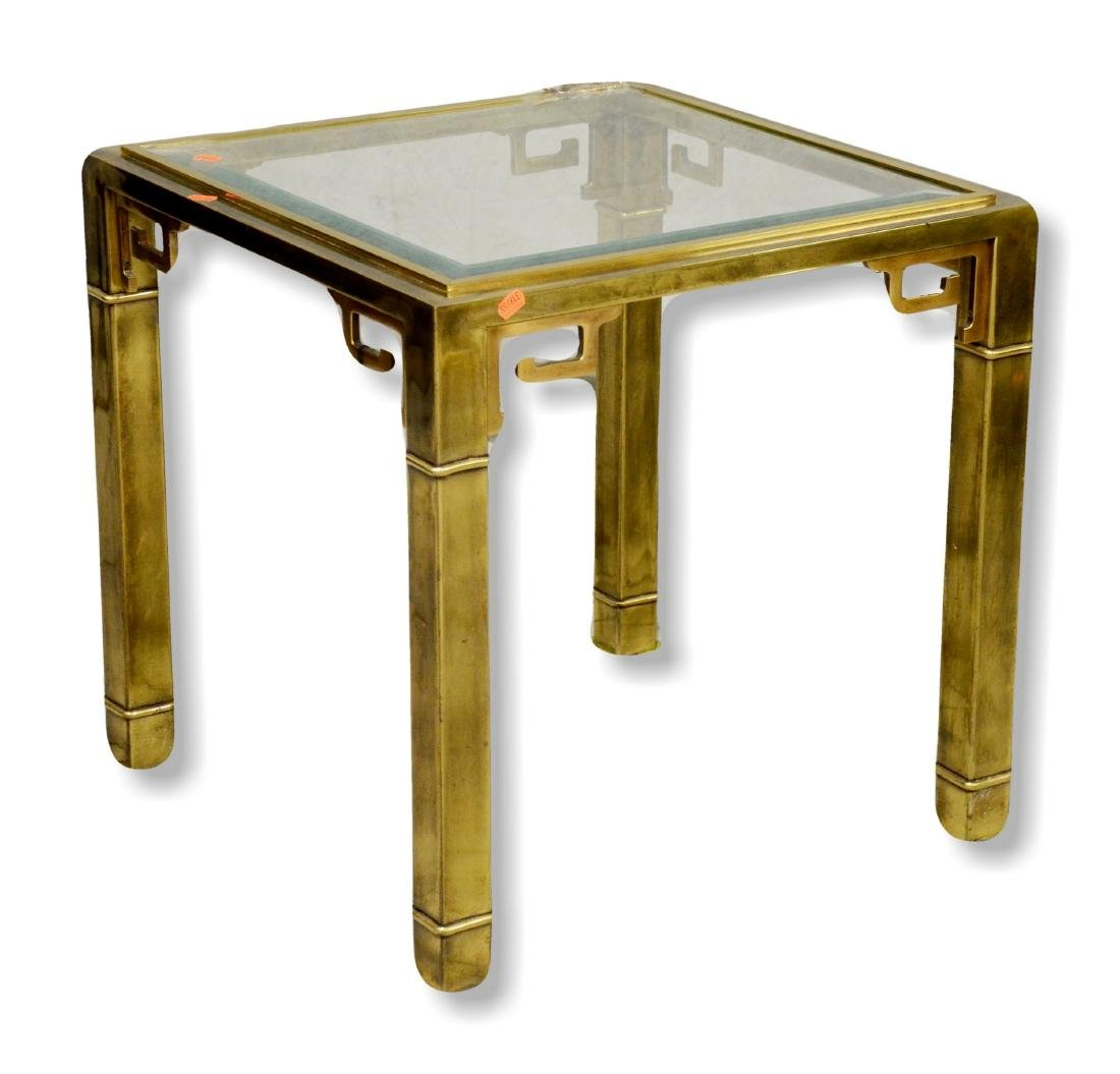 Mastercraft Asian style brass side table