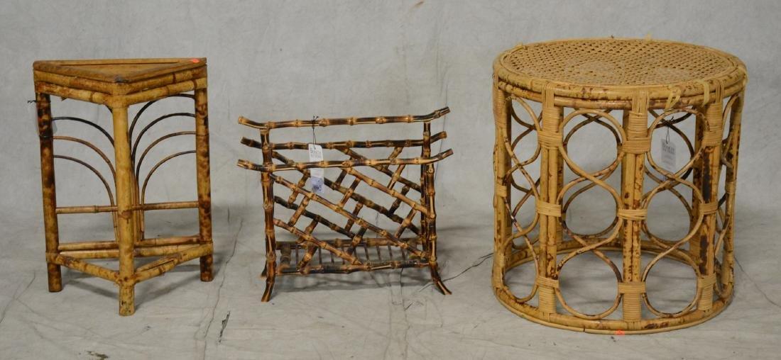 (3) bamboo decorative items