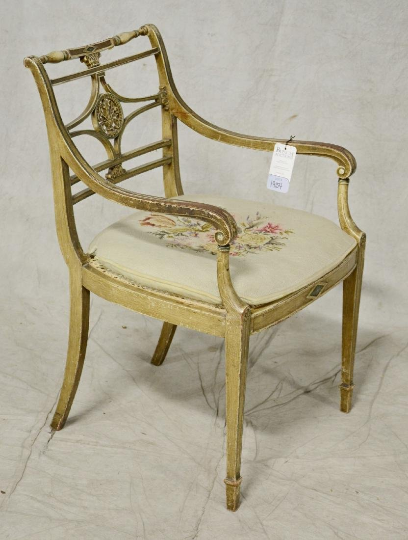 Regency style painted armchair