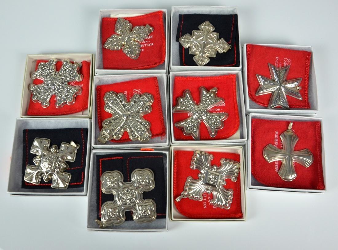 (10) Reed & Barton Sterling Christmas Ornaments