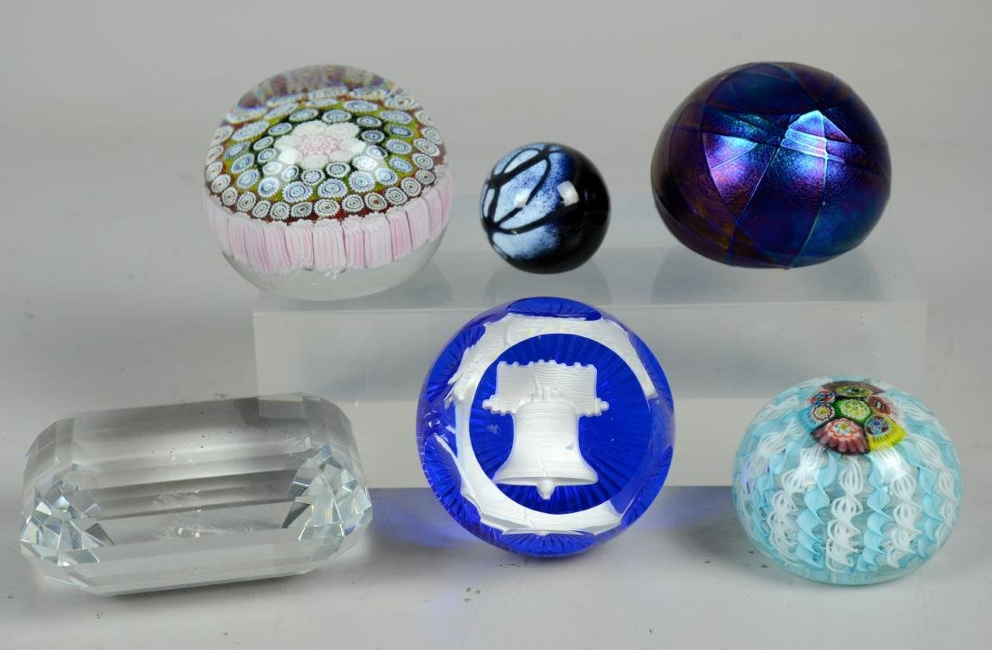 (6) Glass paperweights