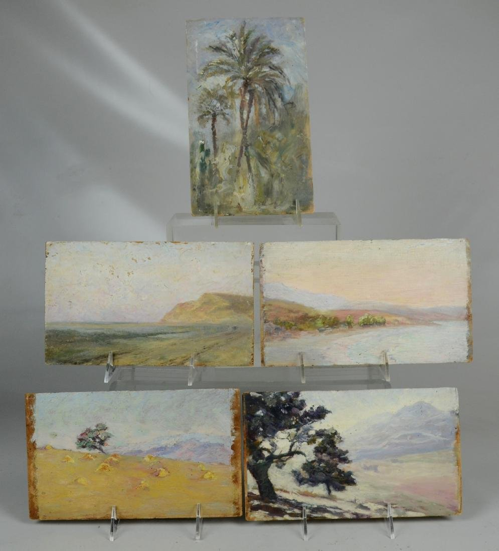 (5) Early 20th C American Landscape Paintings