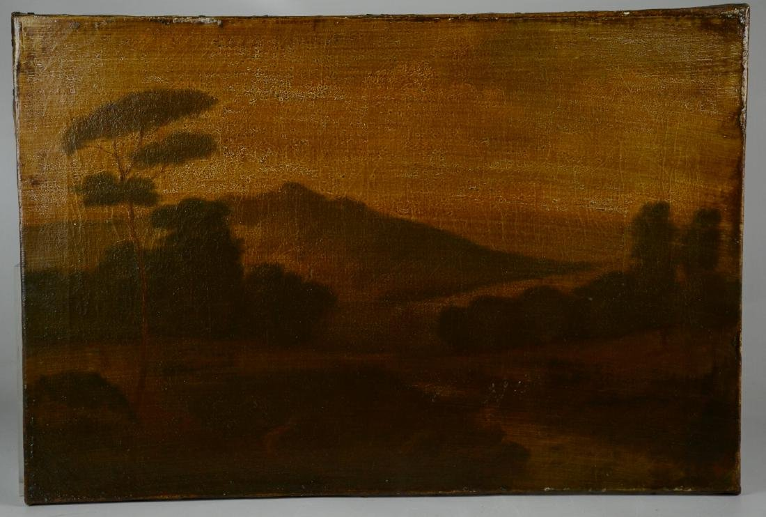 19th C American Landscape Painting with Deer - 2