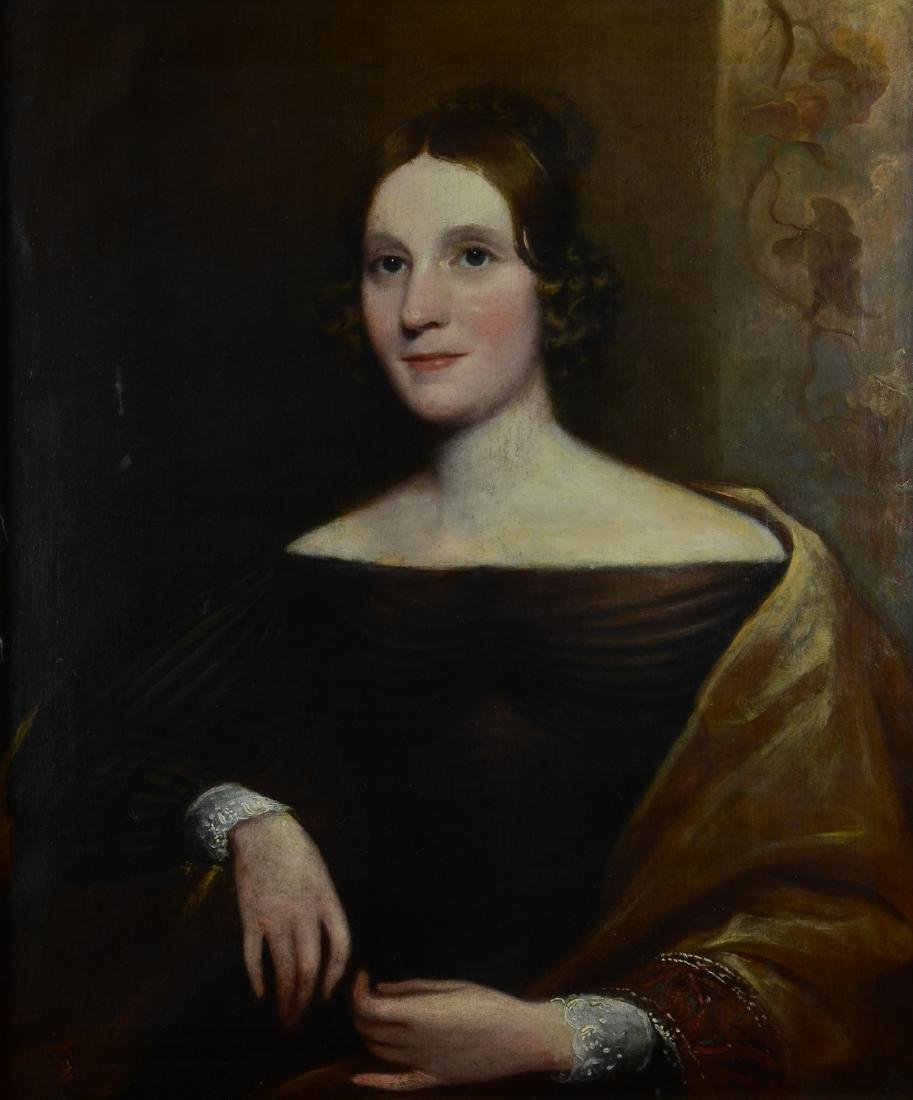 19th C Portrait Painting of a Lady