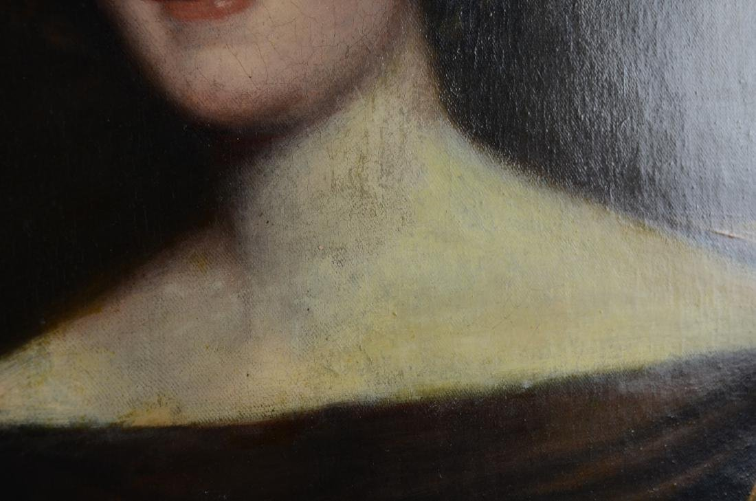19th C Portrait Painting of a Lady - 3