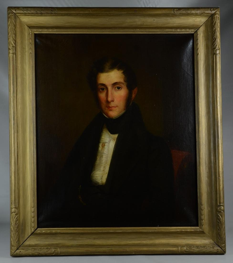 19th C Portrait Painting of a Gentleman - 2