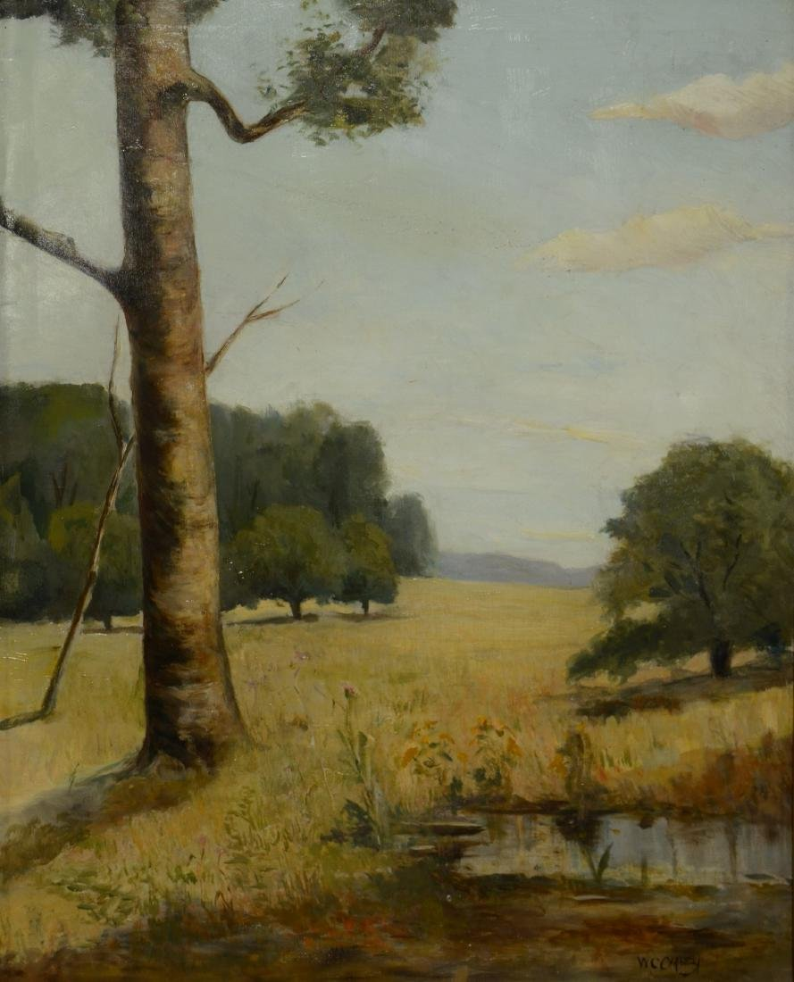 William C. Carney Landscape Painting with Tree