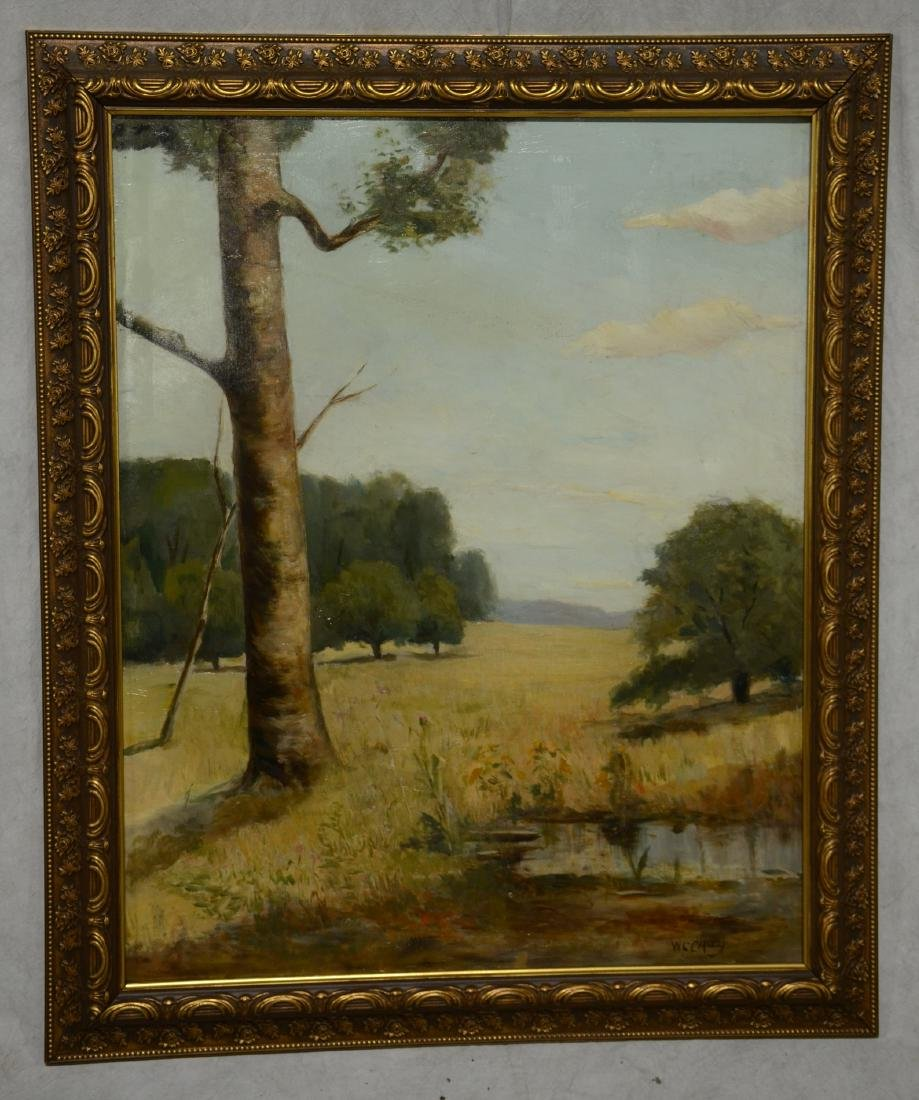 William C. Carney Landscape Painting with Tree - 2