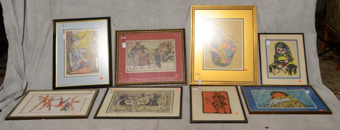(8) 20th C. Prints