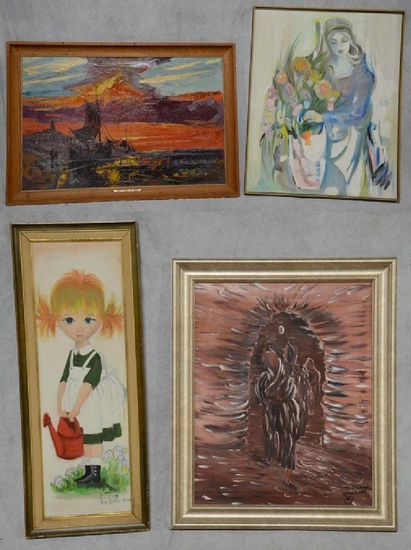 (4) Framed 20th C. Paintings