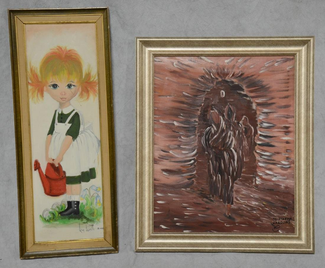 (4) Framed 20th C. Paintings - 3