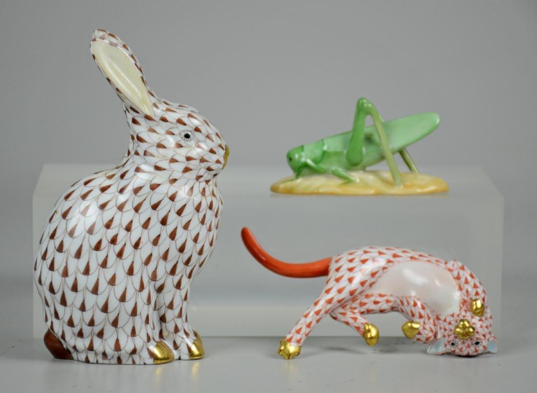 (3) Herend Animal Figurines