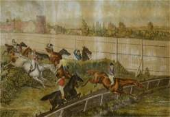 """Henry Alken Steeplechase Print, """"In and Out"""""""