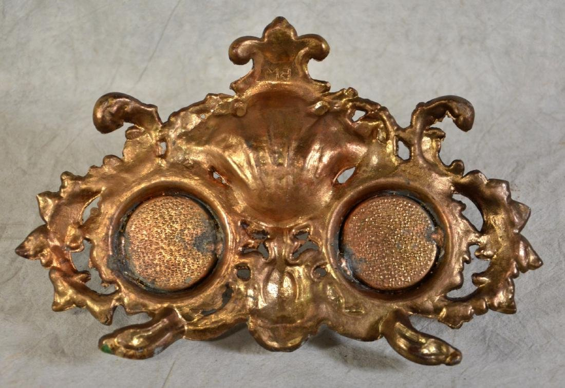Brass Double Inkwell - 3