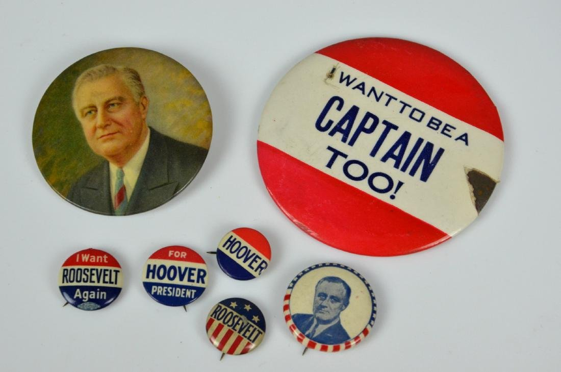 (7) 1932 & 1944 Presidential Campaign Buttons