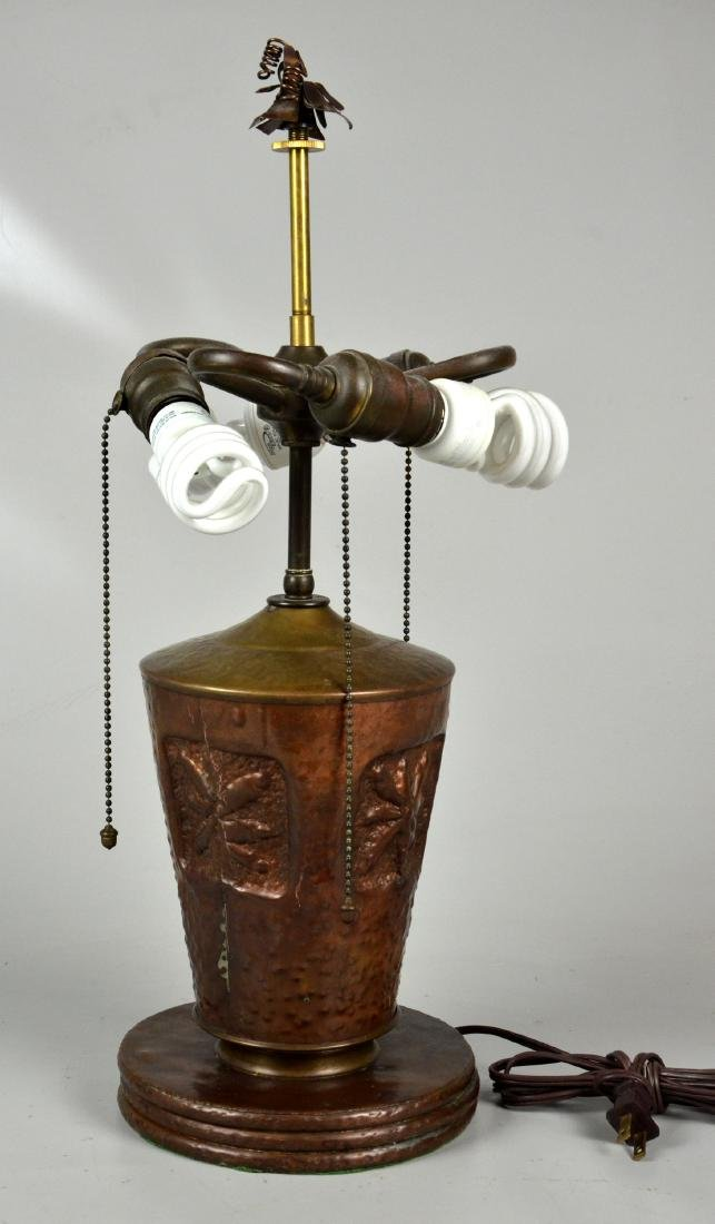 Hammered Copper Table Lamp