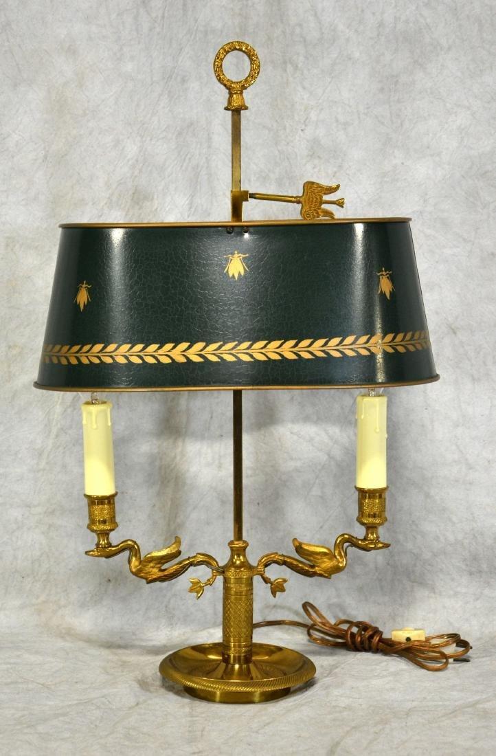 Brass Bouillotte Swan Table Lamp