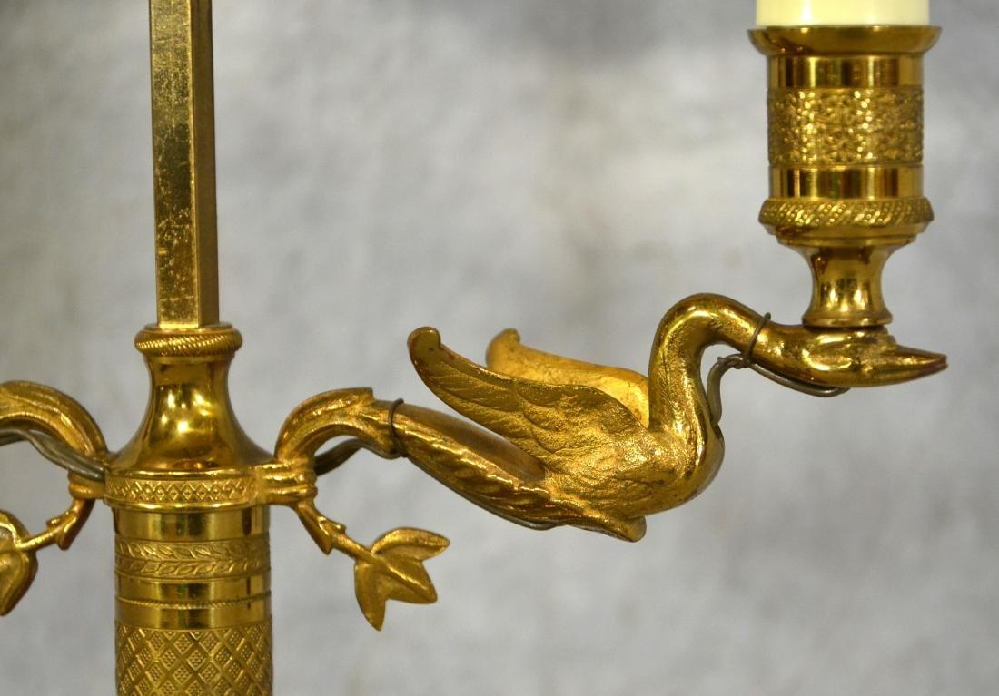 Brass Bouillotte Swan Table Lamp - 2