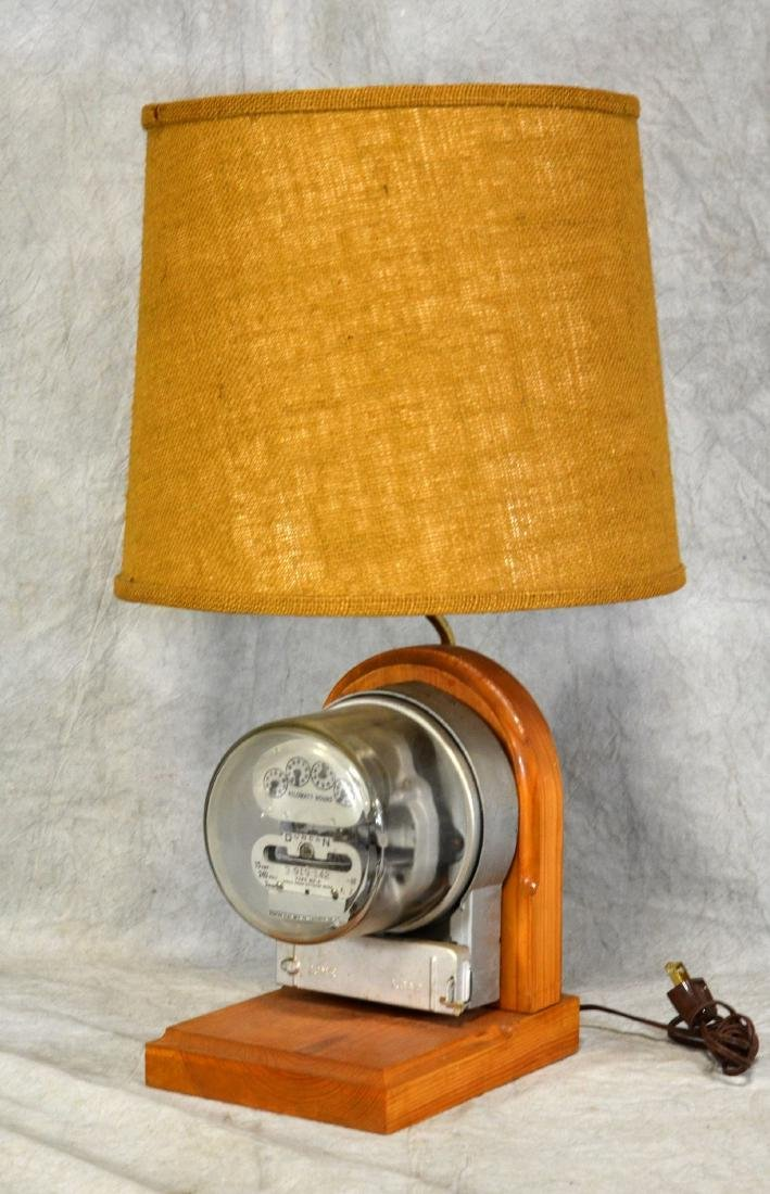 Electric Meter Table Lamp