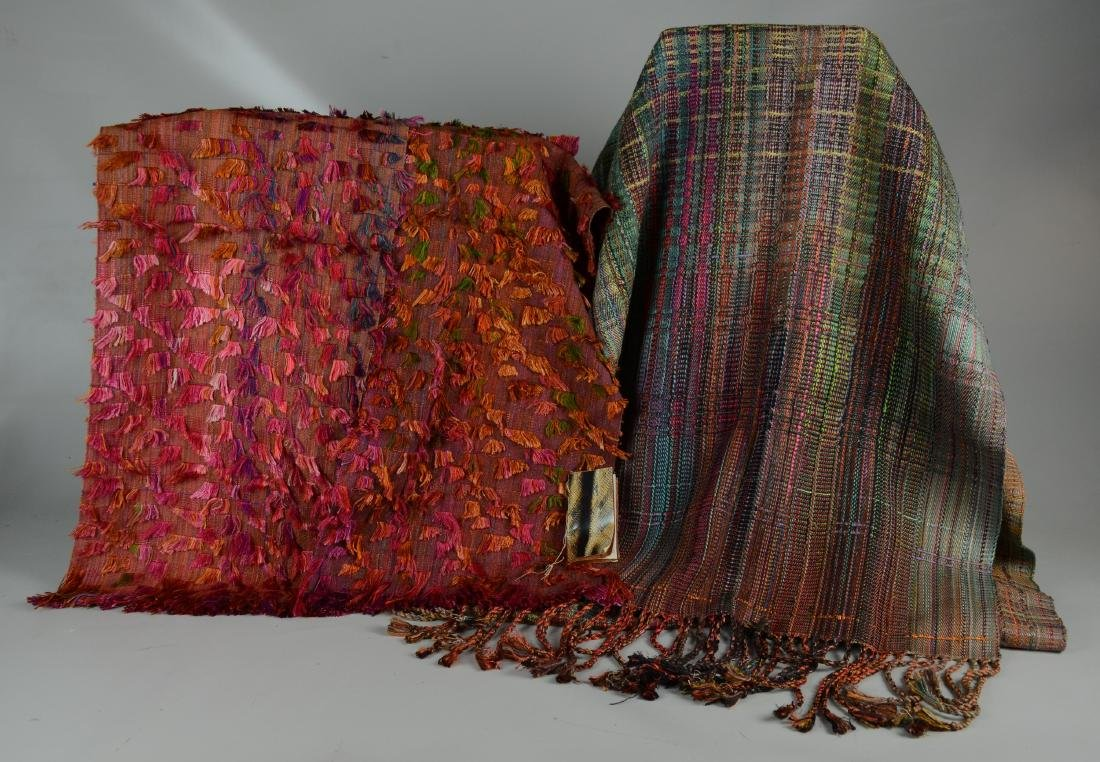 (2) Handwoven Silk Textiles