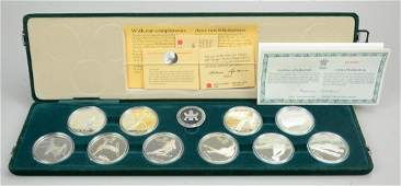 1988 Calgary Olympic Winter Games Set (10) $20 Coins