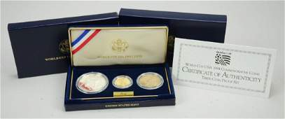 1994 World Cup USA 3 Coin Proof Set