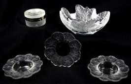(5) Pcs Lalique Crystal
