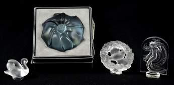(4) Pcs Lalique Crystal