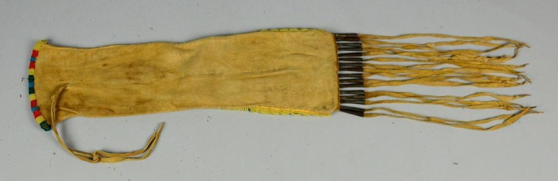 Plains Native American Indian beaded pipe bag - 2