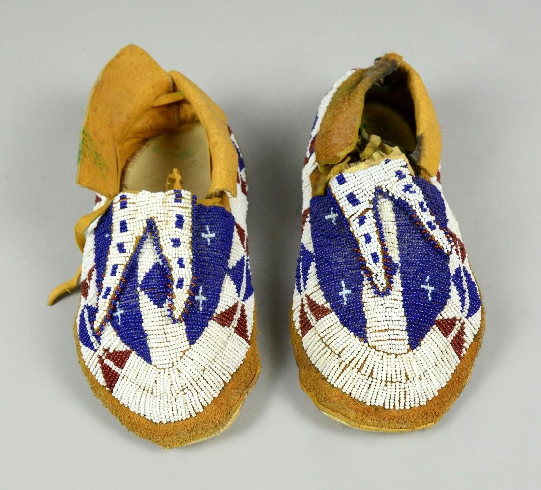 Sioux Native American Indian Beaded Moccasins