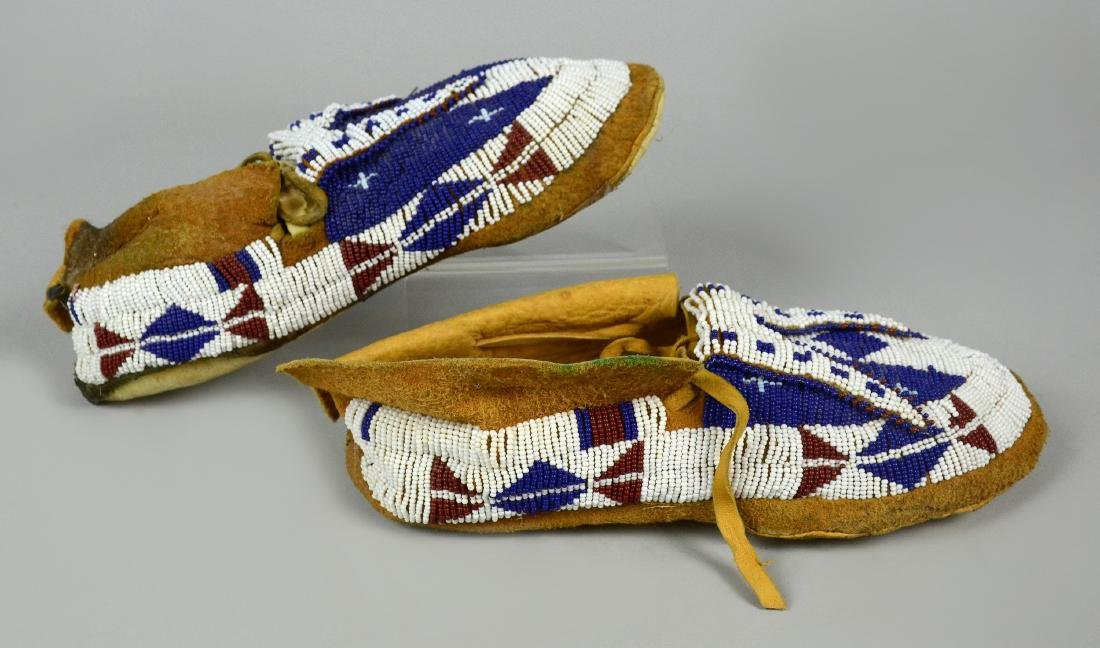 Sioux Native American Indian Beaded Moccasins - 2