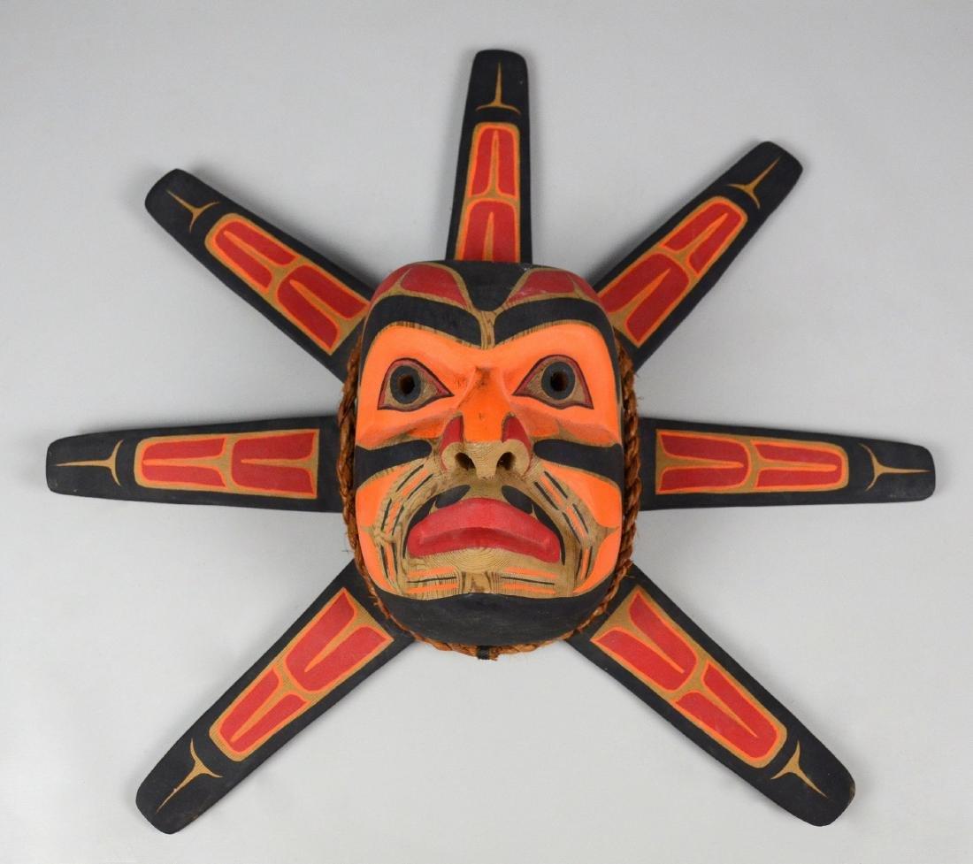 Northwest Coast Kwakiutl Sun mask -Emil Thibert