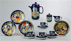 18-Pc Rosenthal Bjorn Wiinblad Tea Set
