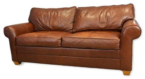 Ethan Allen Leather Sleeper Sofa