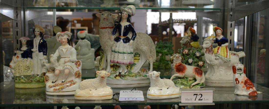 Shelf #72 - (8) Staffordshire Figures