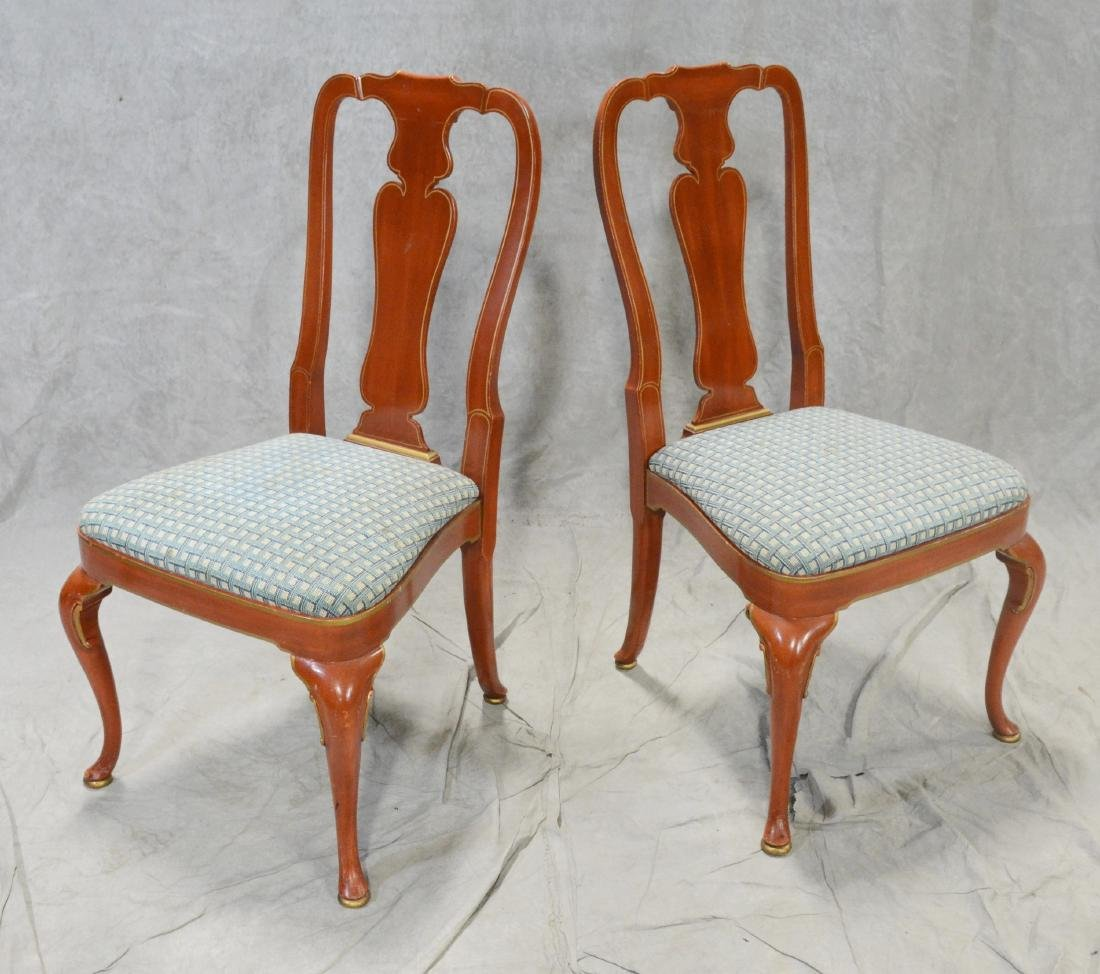 Pair Kindel Asian style side chairs