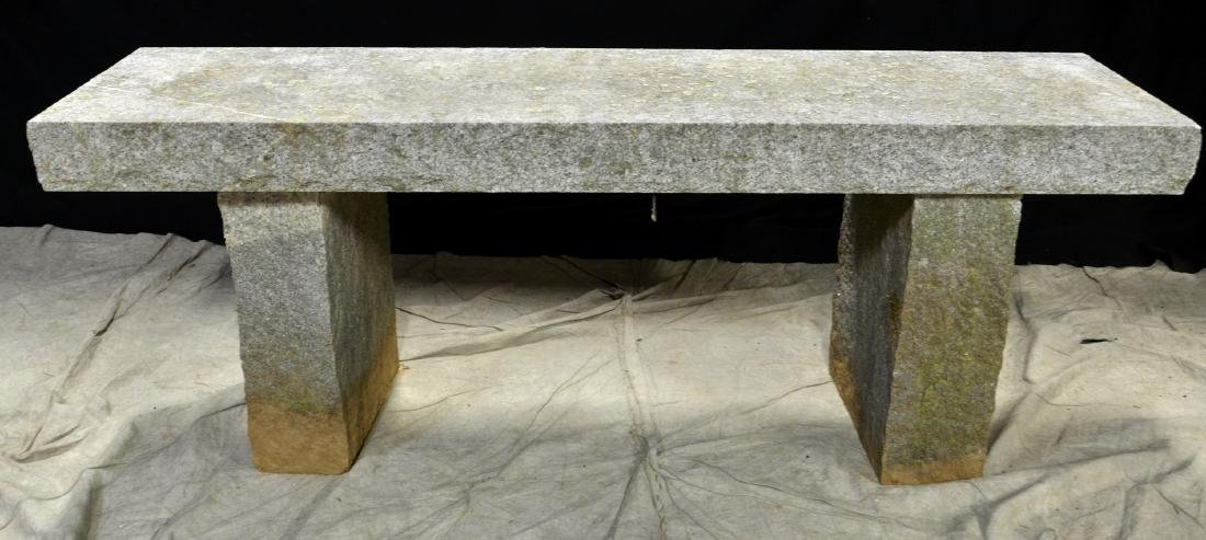 Granite 3-pc garden bench