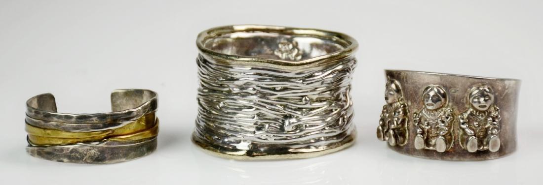 (3) Sterling Bracelet Cuffs